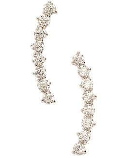 'salome' Cubic Zirconia Ear Crawlers
