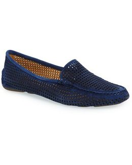 Barrie Perfroated-Suede Flats