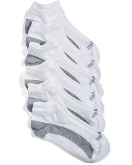 6-pack Liner Socks, White