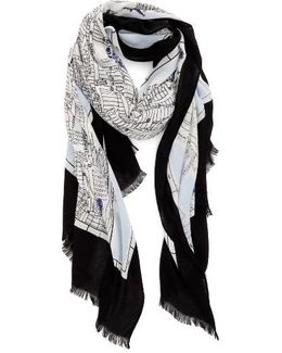 New York Map Print Scarf