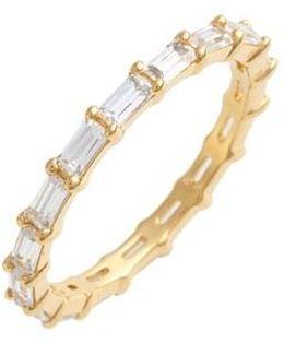 Stackable Cubic Zirconia Baguette Ring