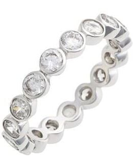 Stackable Cubic Zirconia Bezel Ring