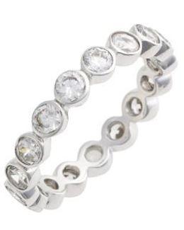 Stackable Cubic Zirconia Bezel Ring