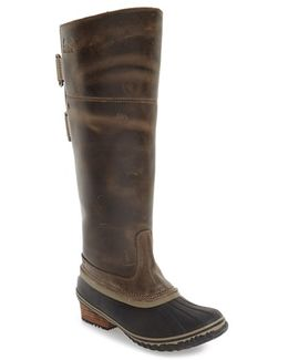 'slimpack Ii' Waterproof Riding Boot, Brown
