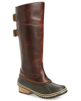 'slimpack Ii' Waterproof Riding Boot, Brown