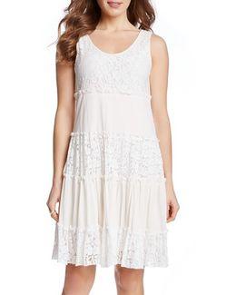 'Tara' Tiered Lace A-line Dress
