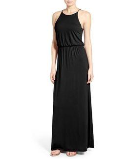 High Neck Maxi Dress