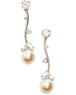 Imitation Pearl Linear Drop Earrings