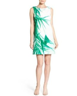 'raffie' Palm Print Shift Dress