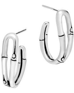 'bamboo' Small Hoop Earrings
