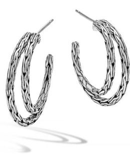 'classic Chain' Double Hoop Earrings