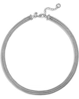'classic Chain' Three Row Collar Necklace