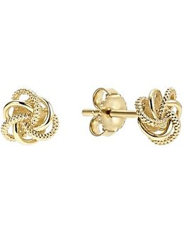 'love Knot' Stud Earrings
