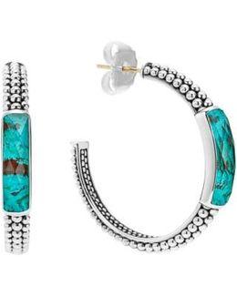 'maya' Caviar Hoop Earrings