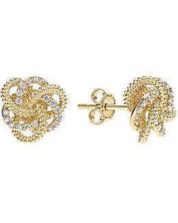 'love Knot' Diamond Stud Earrings
