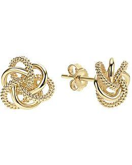 'love Knot' 18k Gold Stud Earrings