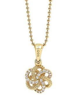 'love Knot' Diamond Pendant Necklace