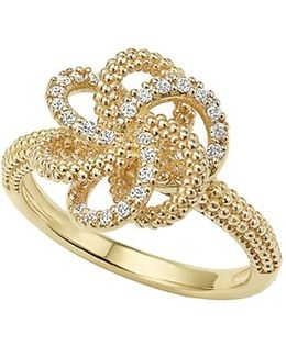 'love Knot' Diamond Ring