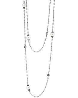'luna' Double Strand Pearl Station Necklace