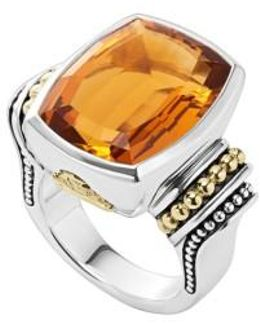 'caviar Color' Large Semiprecious Stone Ring