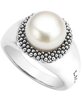 'luna' Large Pearl Ring