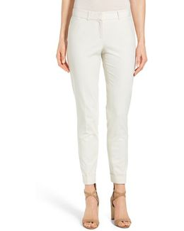 'downtown' Stretch Cotton Blend Cuff Ankle Pants