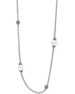 'luna' Pearl Station Necklace