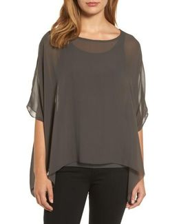 Sheer Silk Georgette Top