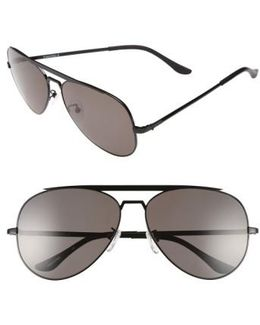 'marshall' 62mm Aviator Sunglasses