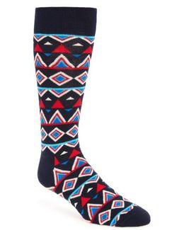 Temple Cotton Blend Socks