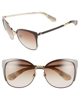 'genice' 57mm Cat-eye Sunglasses