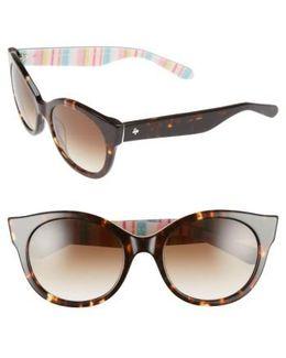 'melly' 53mm Sunglasses - Havana