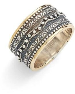 'hebe' Etched Band Ring