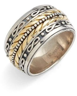 'orpheus' Etched Band Ring