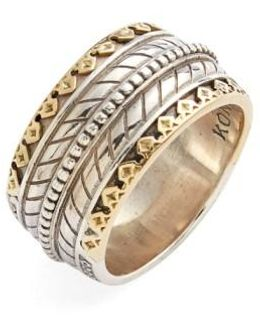'orpheus' Carved Band Ring