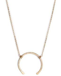 'imogen' Crescent Pendant Necklace