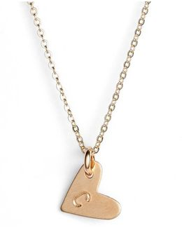 14k-gold Fill Initial Mini Heart Pendant Necklace