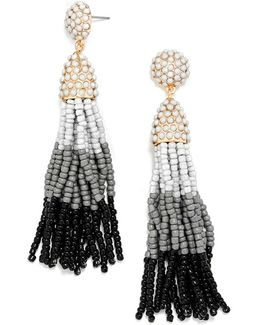 Cloud Formation Tassel Drop Earrings