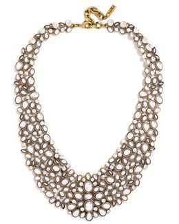 'kew' Crystal Collar Necklace