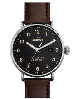 The Canfield Leather Strap Watch