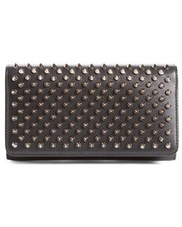 'macaron' Studded Leather Continental Wallet