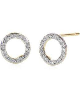 'riva' Circle Stud Diamond Earrings