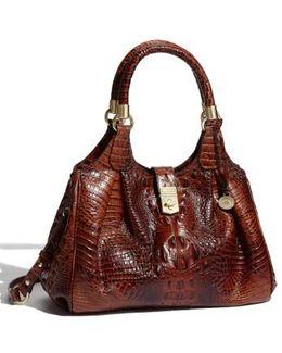 Melbourne Collection Elisa Croco-embossed Hobo Bag