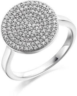 'ava' Diamond Disc Ring