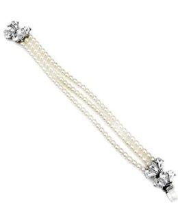 'cascading Crystal' Glass Pearl Strand Bracelet