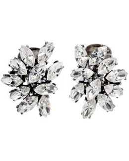 Swarovski Crystal Cluster Clip Earrings