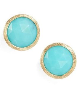 'jaipur' Stone Stud Earrings
