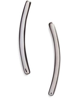 Curved Bar Stud Earrings
