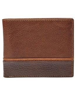 'ian' Leather Bifold Wallet