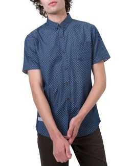 Livewire Trim Fit Print Short Sleeve Woven Shirt